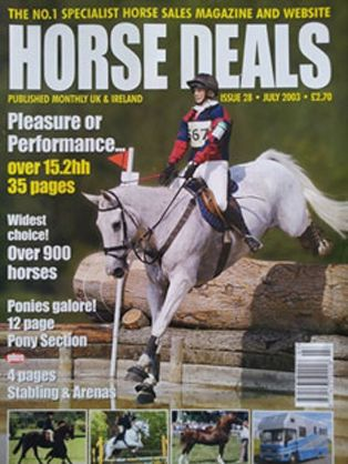 Claire on the cover of Horse Deals
